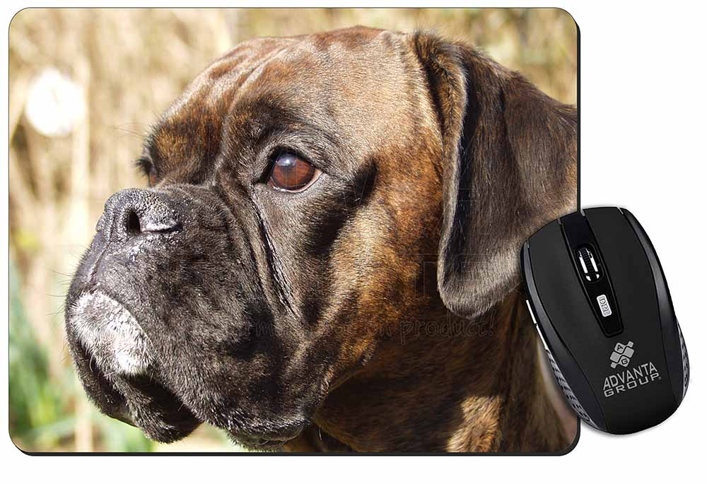 Promotional Brindle Boxer Dog Computer Mouse Mat Birthday Gift Idea ID18939