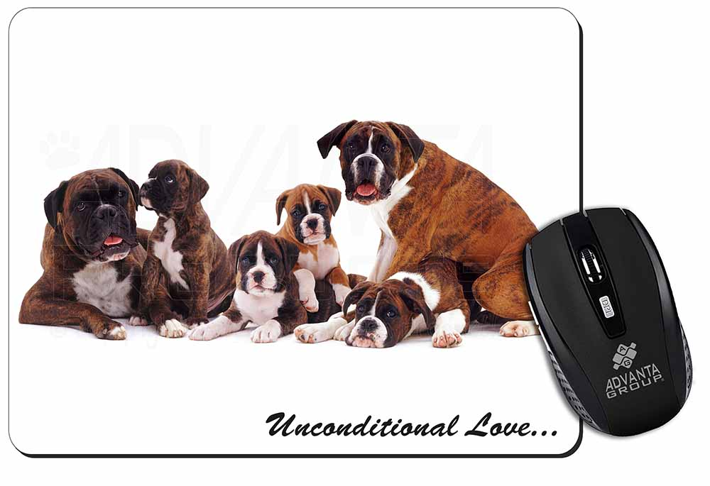 Promotional Boxer Dog Love Computer Mouse Mat Birthday Gift Idea ID18993