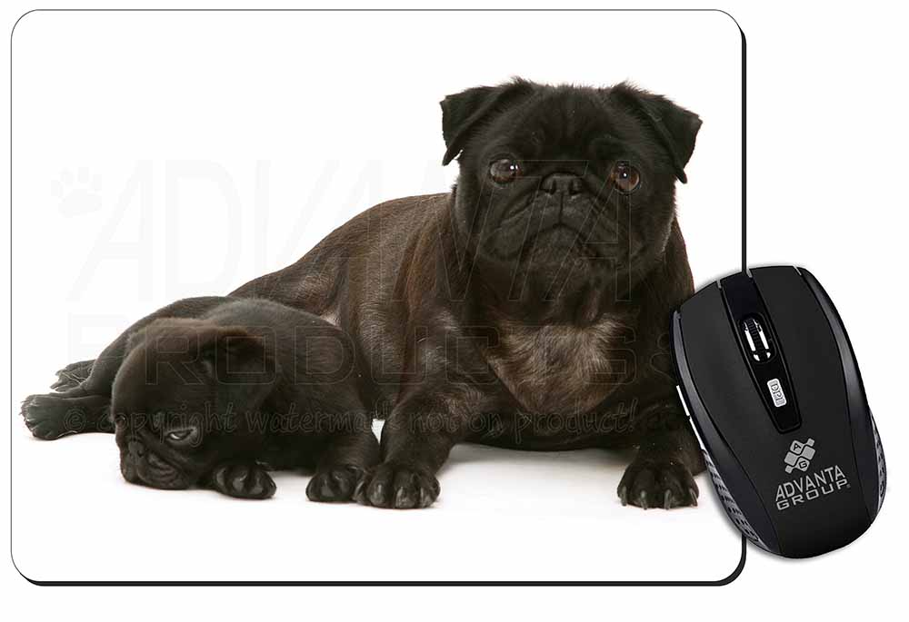 Promotional Pug Dog And Puppy Computer Mouse Mat Birthday Gift Idea ID23140