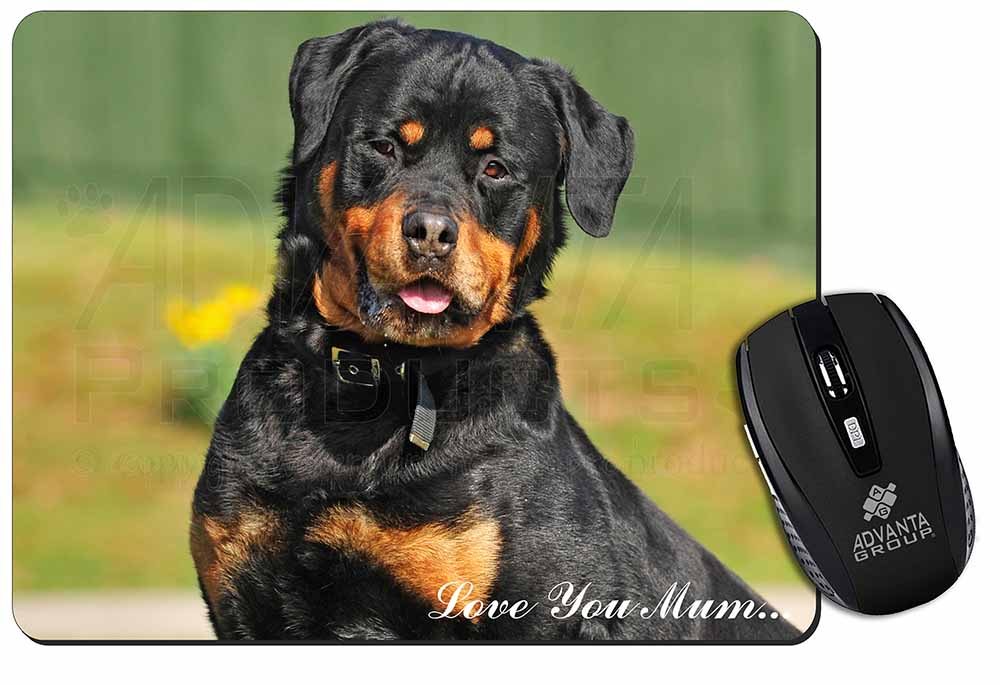 Promotional Rottweiler Dog Love You Mum Computer Mouse Mat Birthday Gift Idea ID77823