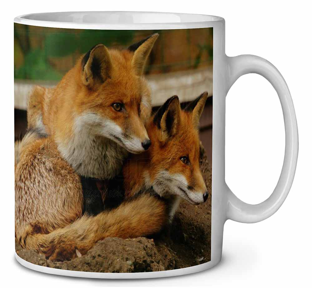 Fox and Cubs Coffee Tea Mug Ideal Gift