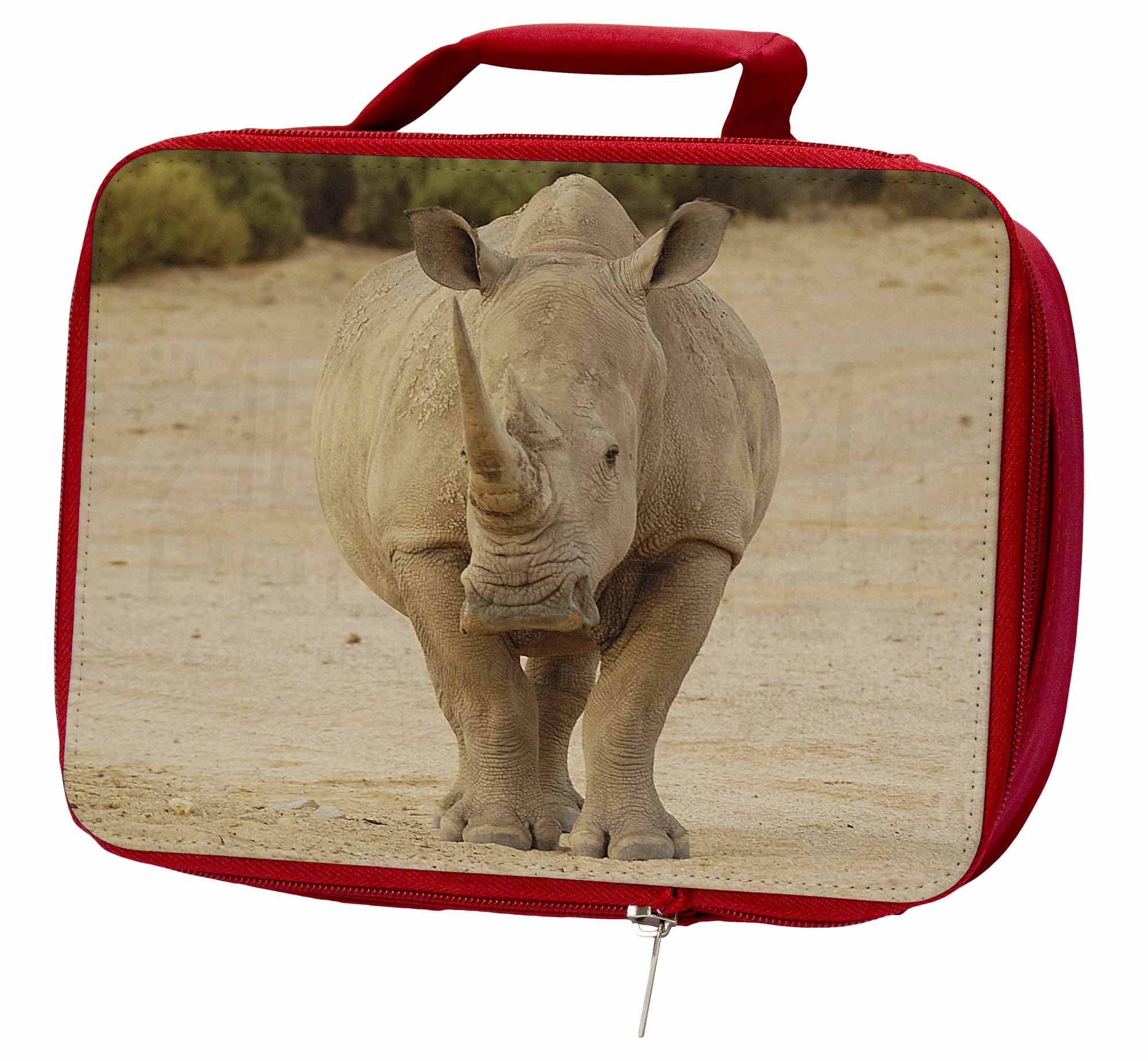 ARH-2LBR Rhinocerous Rhino Insulated Red School Lunch Box//Picnic Bag