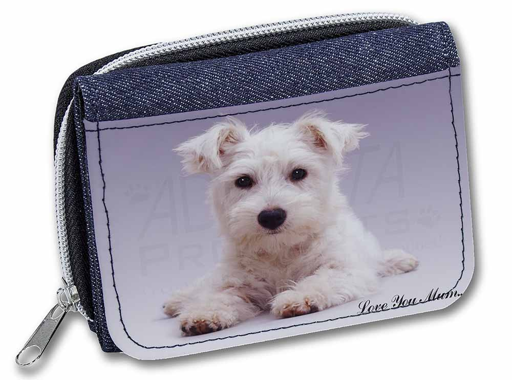 Promotional Westie Love You Mum Girls Ladies Denim Purse Wallet Birthday Gift Idea ID137521