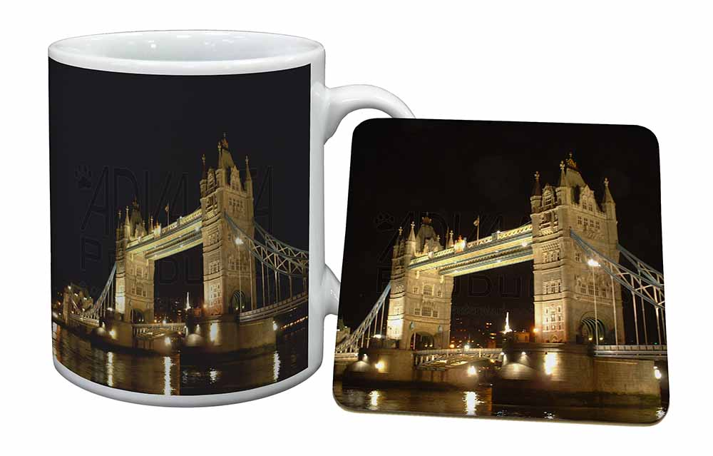 London Tower Bridge Print Mug Coaster Birthday Gift Idea