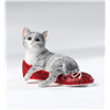 Kitten Heels Silver Grey Cat Ruby in a Red Sparkly Shoe Figurine CA00246