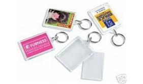 Clear Make Your Own Photo Insert Keyrings