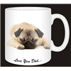 Pug Dog Mug Fathers Day Gift for Dad AD-P92FDMG