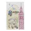London Linen Tea Towel- Cloth Big Ben, Etc.,