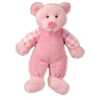 Russ Rattle Pals Small Pink Teddy Bear Plush Toy