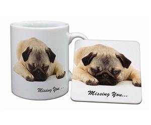 Pug Dog Missing You Sentiment, AD-P92M