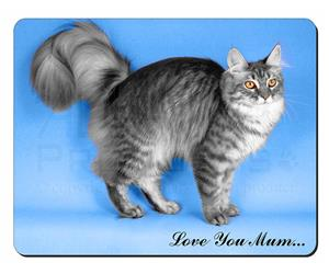 Silver Maine Coon Cat Mum Sentiment, AC-15lym