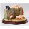 James Herriot Venturing Out Farm Wall Gate Pigs Figurine A22942