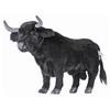 Hansa Realistic Spanish Black Bull Free Standing Plush Toy or Ornament 4862