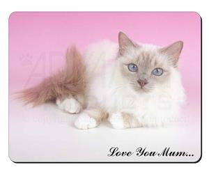 Lilac Birman Cat Mum Sentiment, AC-91lym