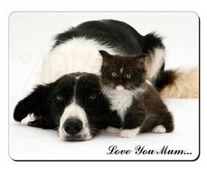 Border Collie and Kitten Mum Sentiment, AD-BC2lym