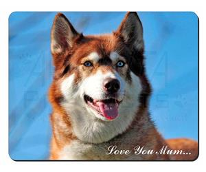 Red Husky Dog Mum Sentiment, AD-H68lym