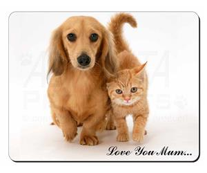 Dachshund Dog and Kitten Mum Sentiment, AD-DU1lym