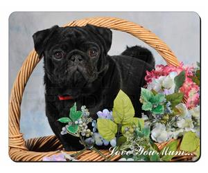 Black Pug Dog Mum Sentiment, AD-P95lym