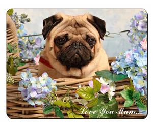 Fawn Pug Dog in a Basket Mum Sentiment, AD-P96lym