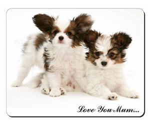 Papillon Dogs Mum Sentiment, AD-PA65lym