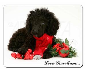 Poodle and Christmas Decorations Mum Sentiment, AD-POD3lym