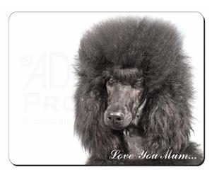 Black Poodle Dog Mum Sentiment, AD-POD4lym