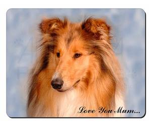 Rough Collie Dog Mum Sentiment, AD-RC1lym