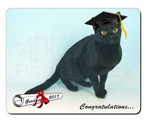 Graduation Black Cap and Gown Cat, GRAD-5
