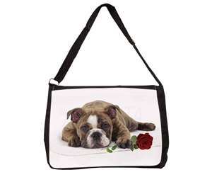 Bulldog with Red Rose, AD-BU82R