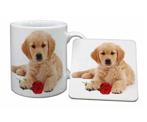 Golden Retriever Dog with Rose, AD-GR54R