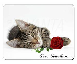 Kitten with Rose