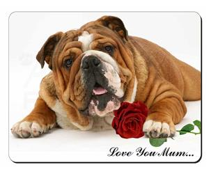 Bulldog with Rose