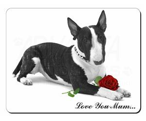 Bull Terrier (B+W) with Rose