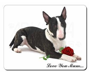 Bull Terrier with Rose