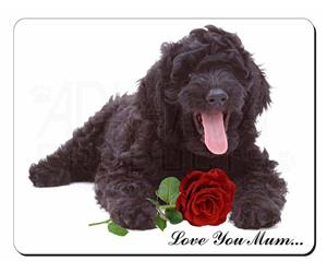 Labradoodle with Rose