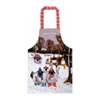 Childrens Cotton PVC Apron Dressed Sheep Winter Snow Scene