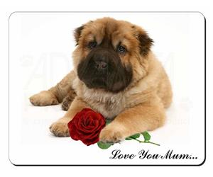 Shar-Pei with Rose