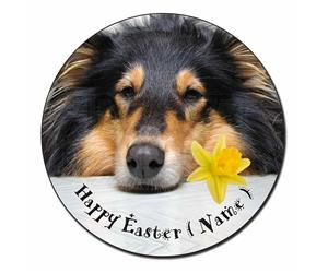 Personalised Name Rough Collie Dog AD-RC2DA2