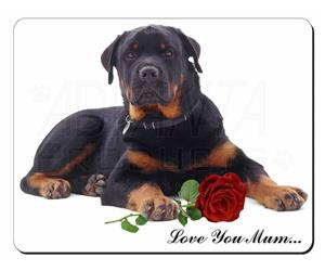 Rottweiler with Rose