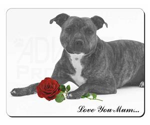 Staffie (B+W) with Rose