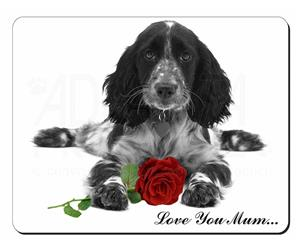 Cocker Spaniel with Rose