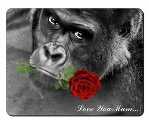 Gorilla with Red Rose