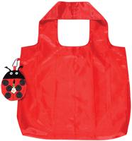 Ladybird Shaped Pouch with Red Packable Shopping Bag 648LAD
