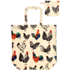 Roosters PVC Packable Shopping Bag Cockerel Chicken 649ROO