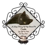 Personalised Wrought Iron Tea-Light Candle Holder Pet Photo Memorial-1