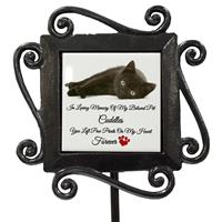Personalised+Photo Wrought Iron Grave Side Memory Stake Pet Memorial-3