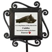 Personalised Pet Cat/Dog Grave-Side Photo Stake Memorial-4