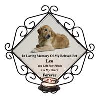 Personalised Wrought Iron Pet Photo Frame Candle Memorial-14