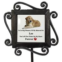 Personalized to Request Pet Dog/Cat Grave Side Photo Memorial-16