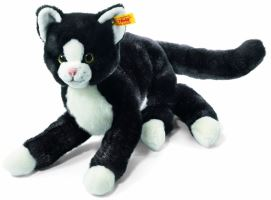 Steiff Mimmi Black and White Cat Childrens Soft Toy Christmas Gift
